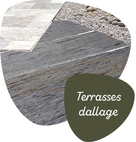 Terrasses dallage